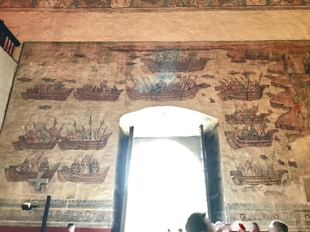 メキシコ クエルナバカ大聖堂「日本聖人26人殉教」の壁画