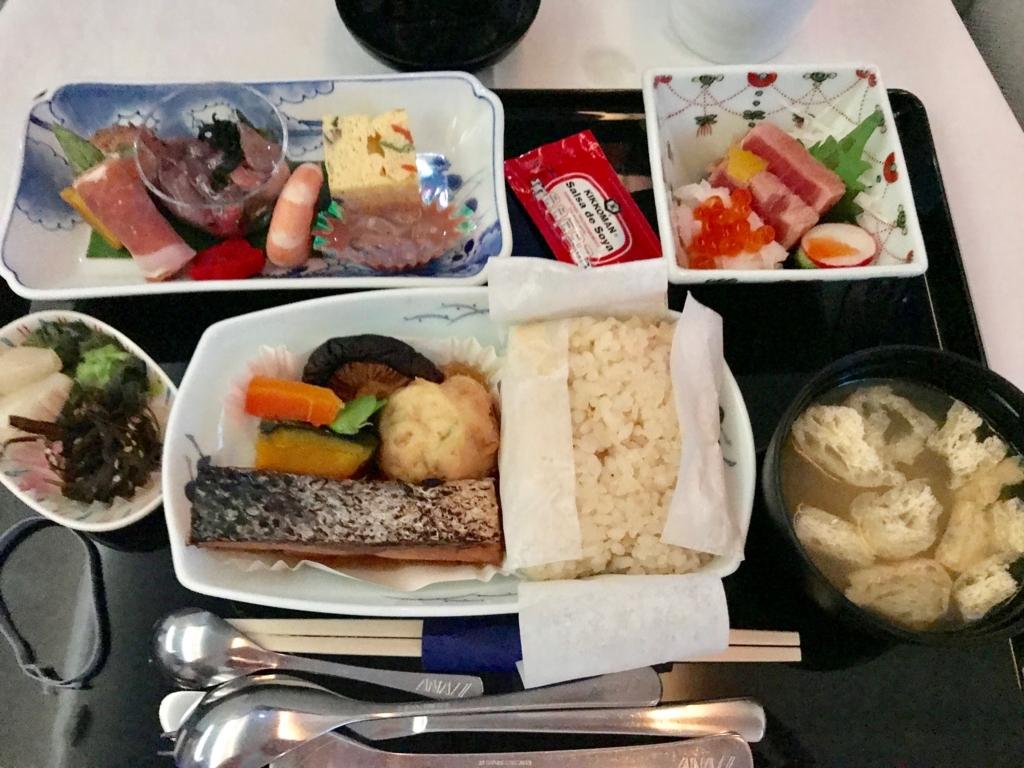 メキシコシティ-成田 ANA0179便 和食 朝食