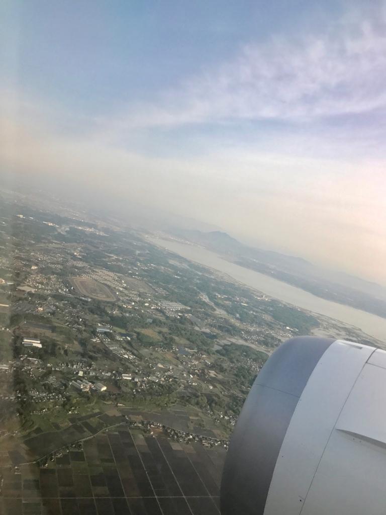 メキシコシティ-成田 ANA0179便 車窓の風景