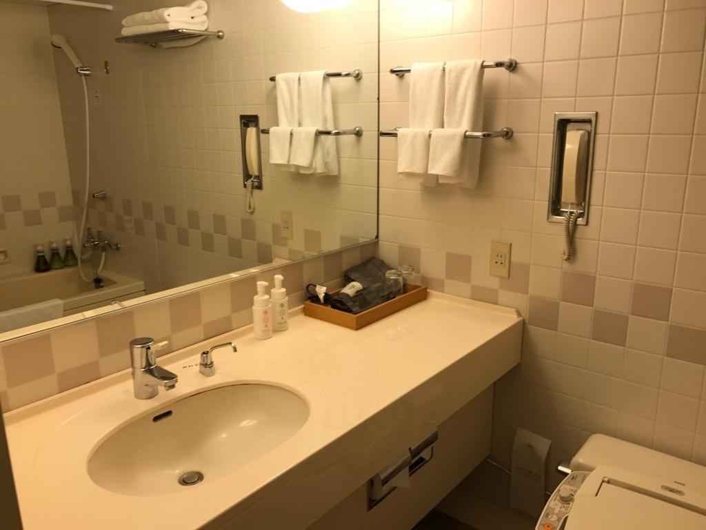 北海道函館 函館国際ホテル ツイン バスルーム