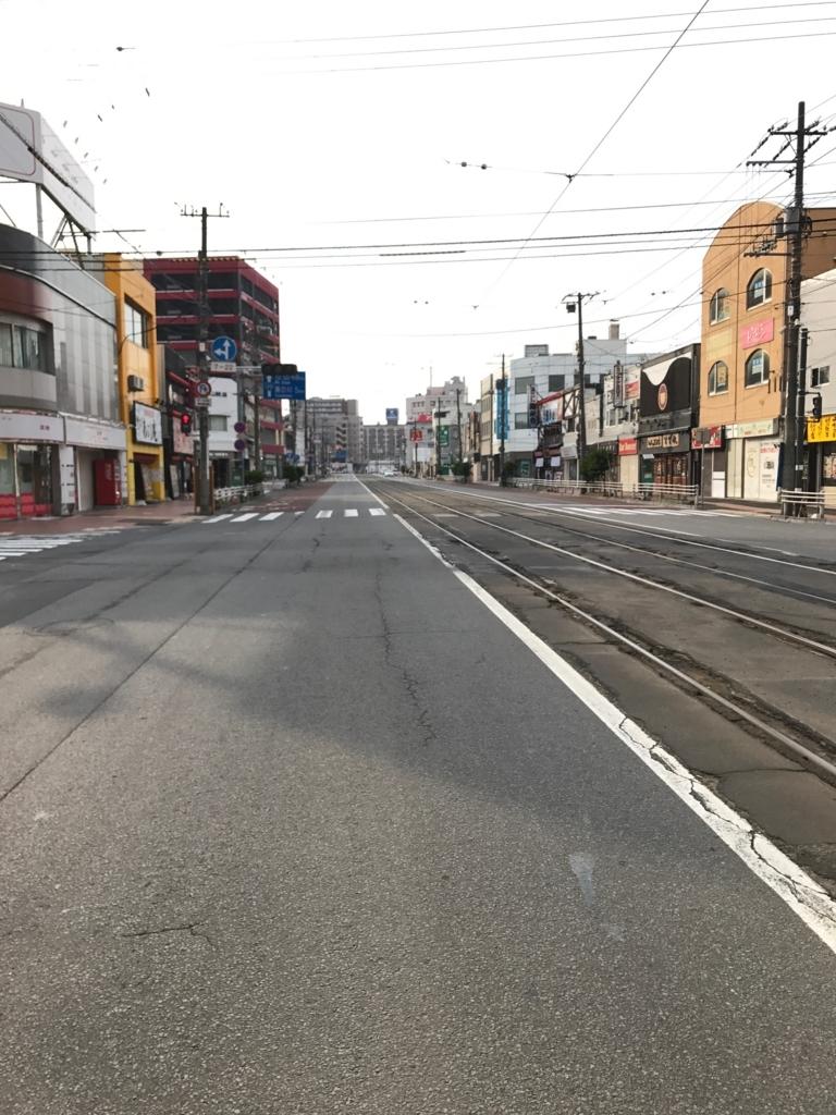 函館市電 「函館駅前」「松風町」間 恵山国道