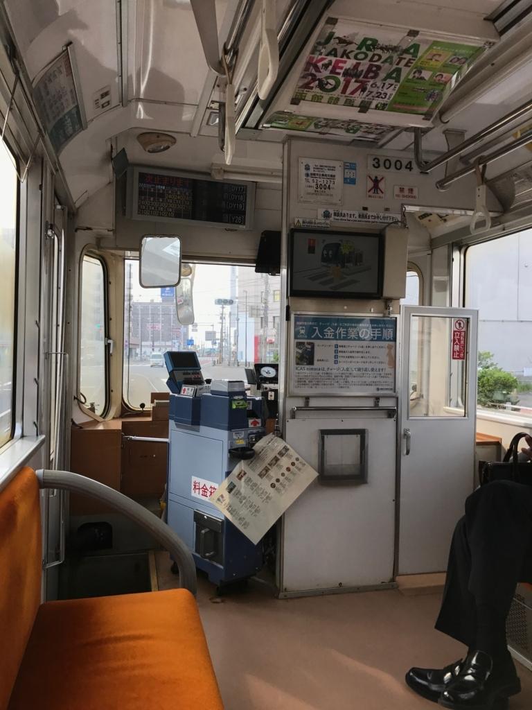 函館市電 車内 運転席