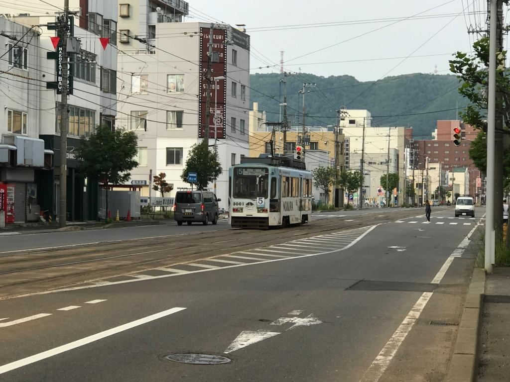 函館市電 路面電車 走行中