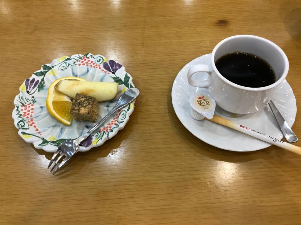 「休暇村 大久野島」タコ会席 水物:季節の物 、コーヒー