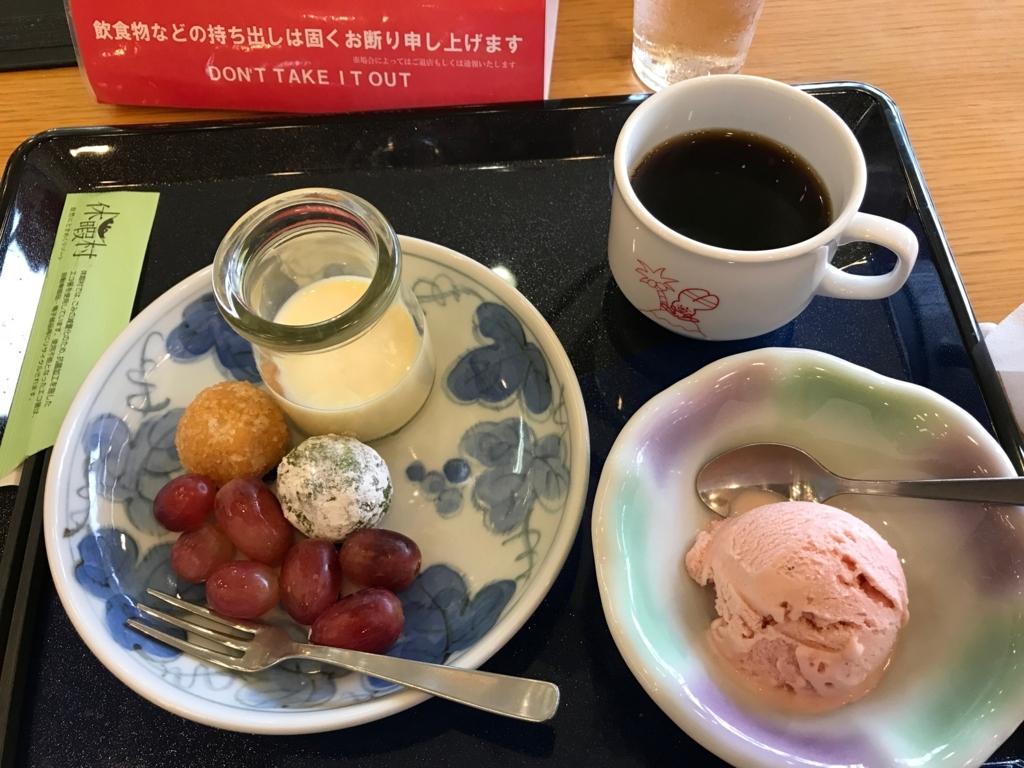 「休暇村 大久野島」夕食 バイキング デザート