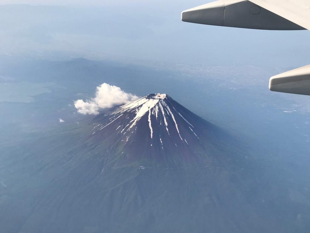 2017年6月後半 羽田-広島航路 富士山