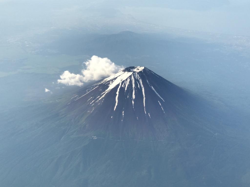 2017年6月後半 羽田-広島航路富士山