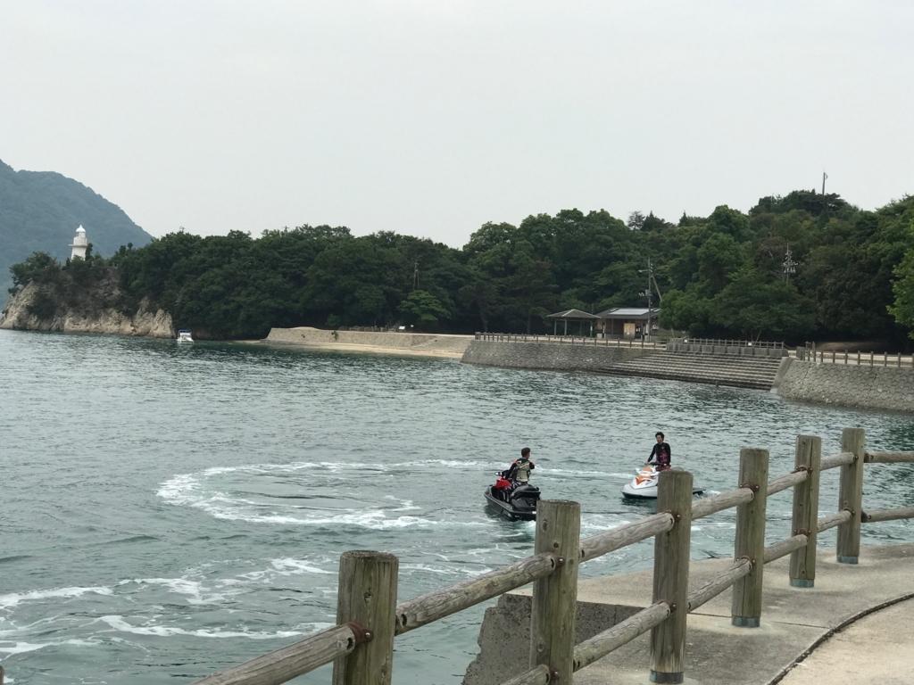 2017年6月 広島県 うさぎ島(大久野島) 第一桟橋付近 ウオーターバイク