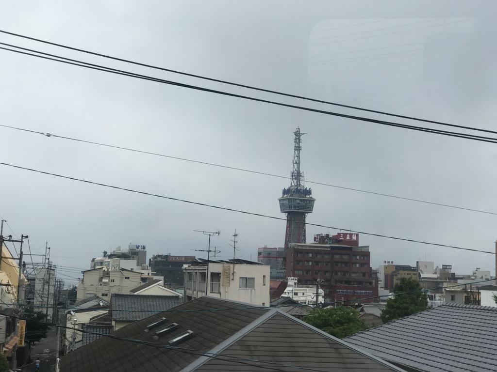 別府温泉「地獄めぐり」豊本線 車窓 別府タワー