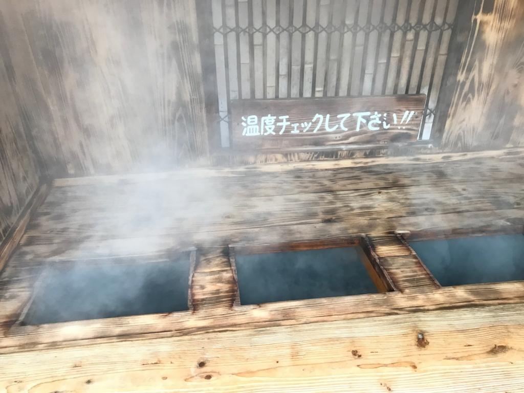 別府温泉「地獄めぐり」かまど地獄 温泉体験コーナー