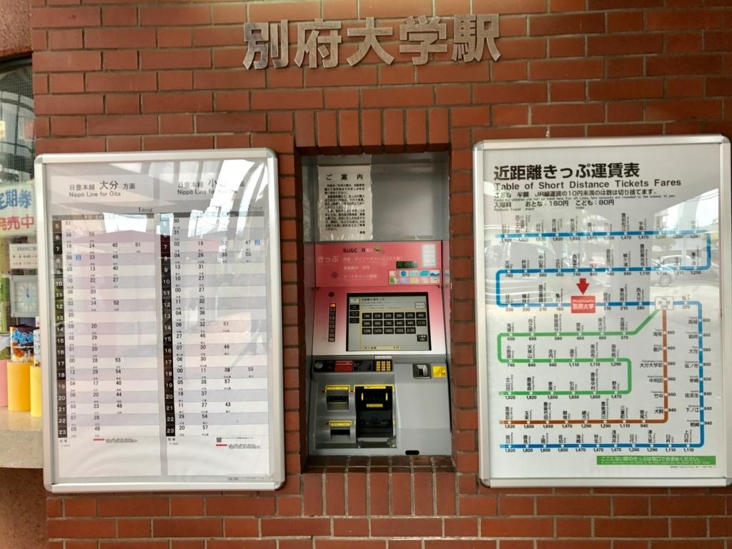 JR別府大学駅 時刻表