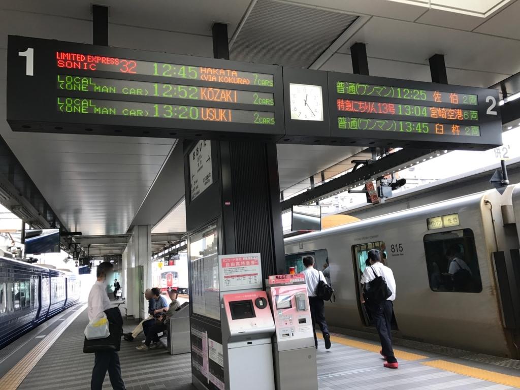 JR別府大学駅 日豊本線 大分駅到