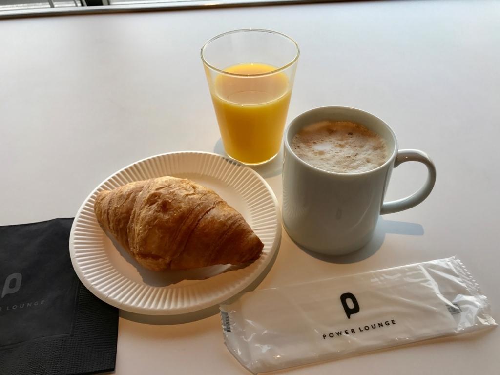 2017年6月後半 羽田第1ターミナル カードラウンジで朝食