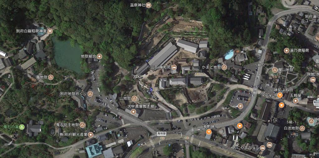 別府温泉「地獄めぐり」周辺 マップ