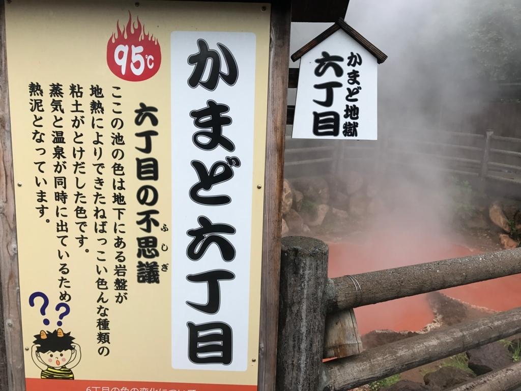 別府温泉「地獄めぐり」かまど地獄6丁目 説明看板