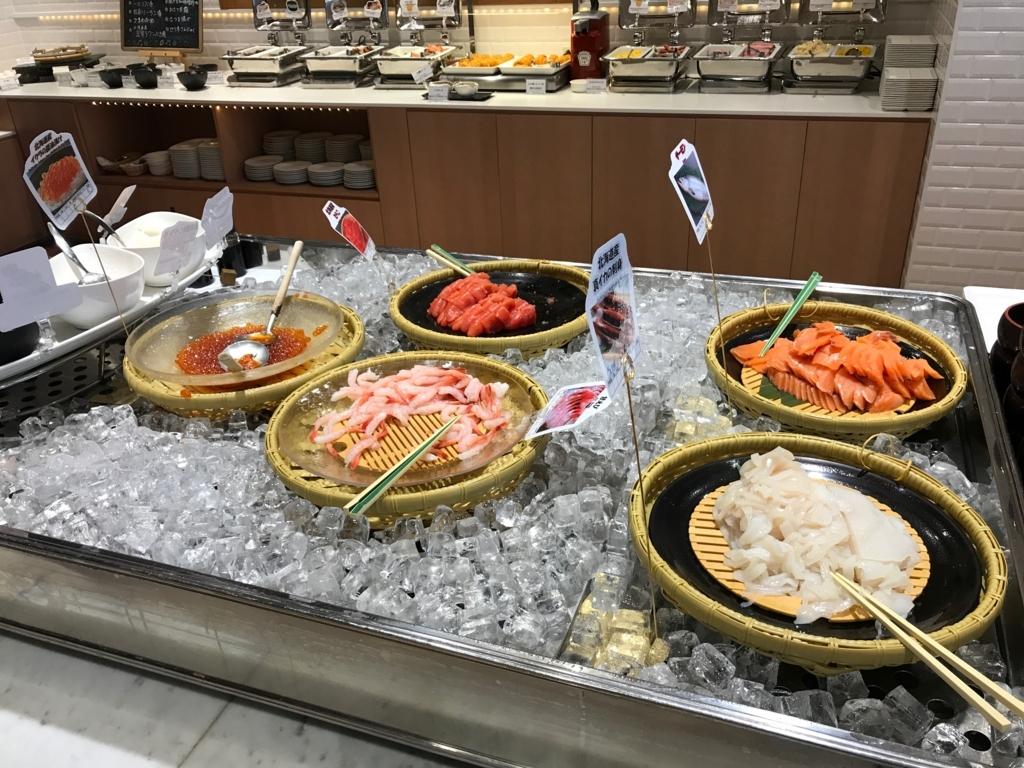 北海道函館 函館国際ホテル 朝食 海鮮丼コーナー
