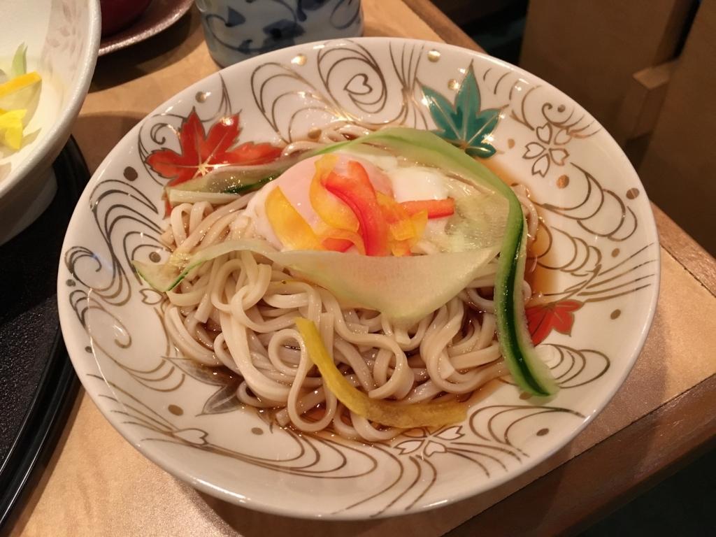 「奈良ロイヤルホテル」日本料理「竹の家」で夕食 冷やしうどん