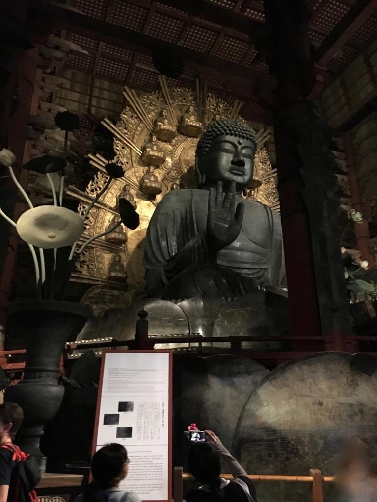 奈良県東大寺「大仏殿夜間参拝」大仏様