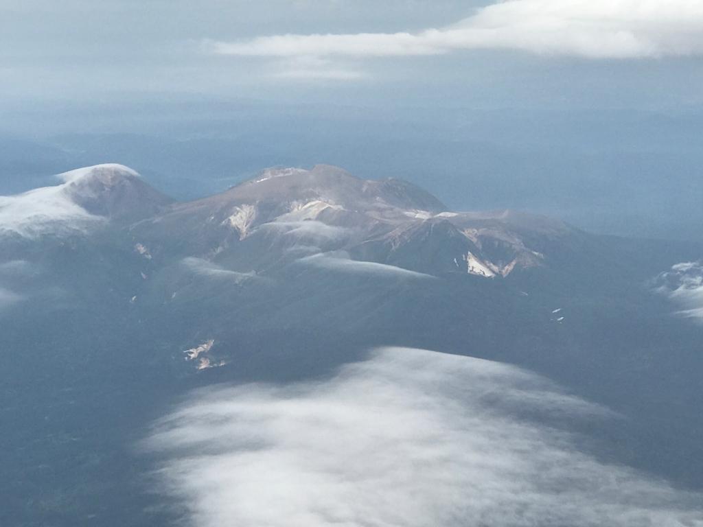 北海道 女満別空港手前 上空写真 阿寒湖周辺