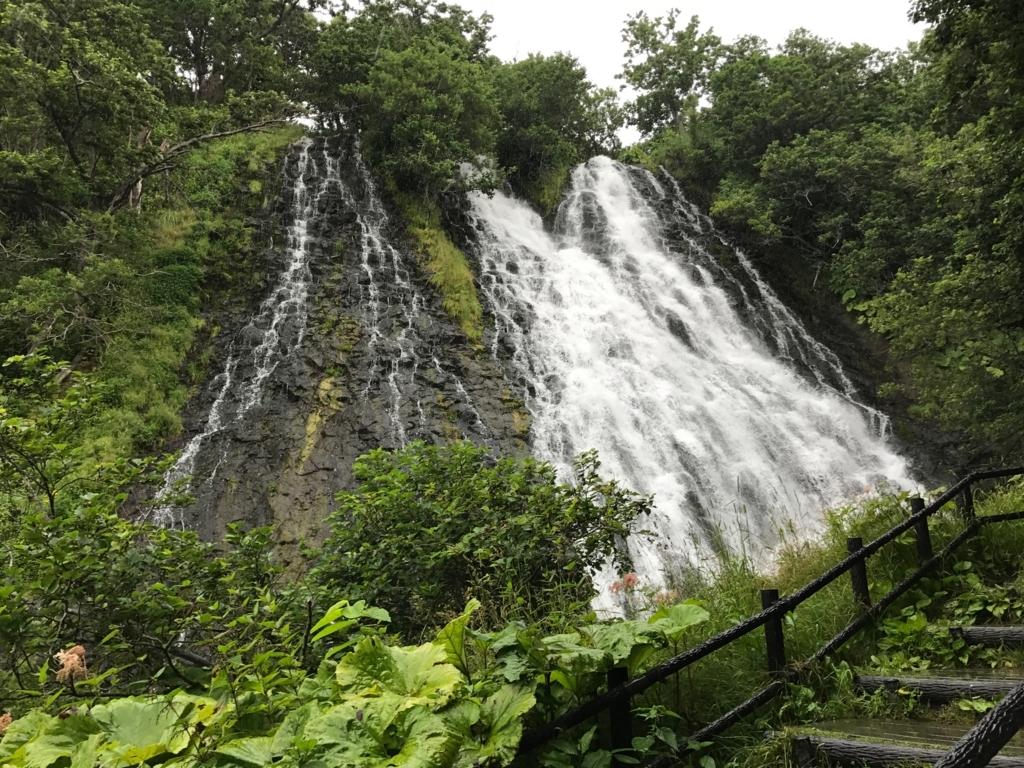 北海道 知床 オシンコシンの滝