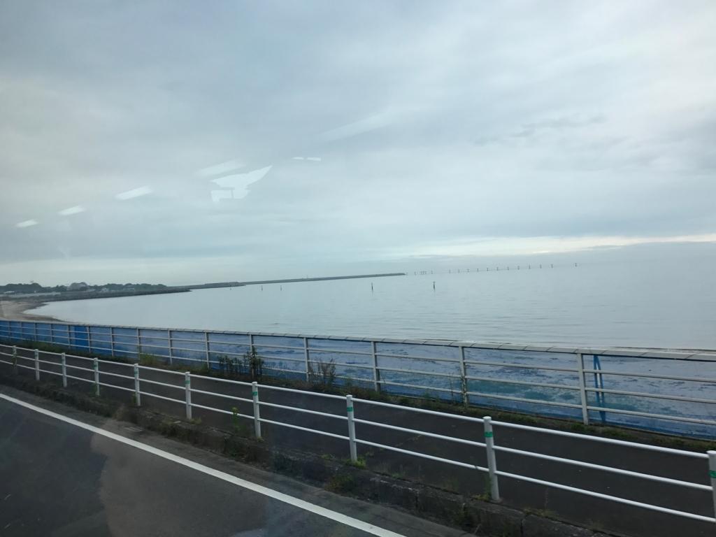 JR日豊本線 別府大学駅から大分駅への車窓の風景