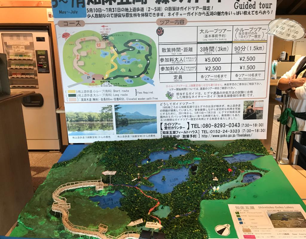 北海道 知床五湖 散策路 模型