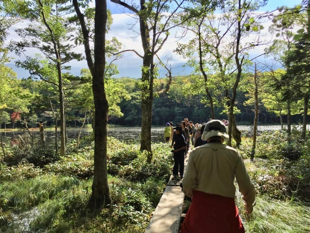 北海道 知床 五湖 たくさんの観光客(2015年9月撮影)