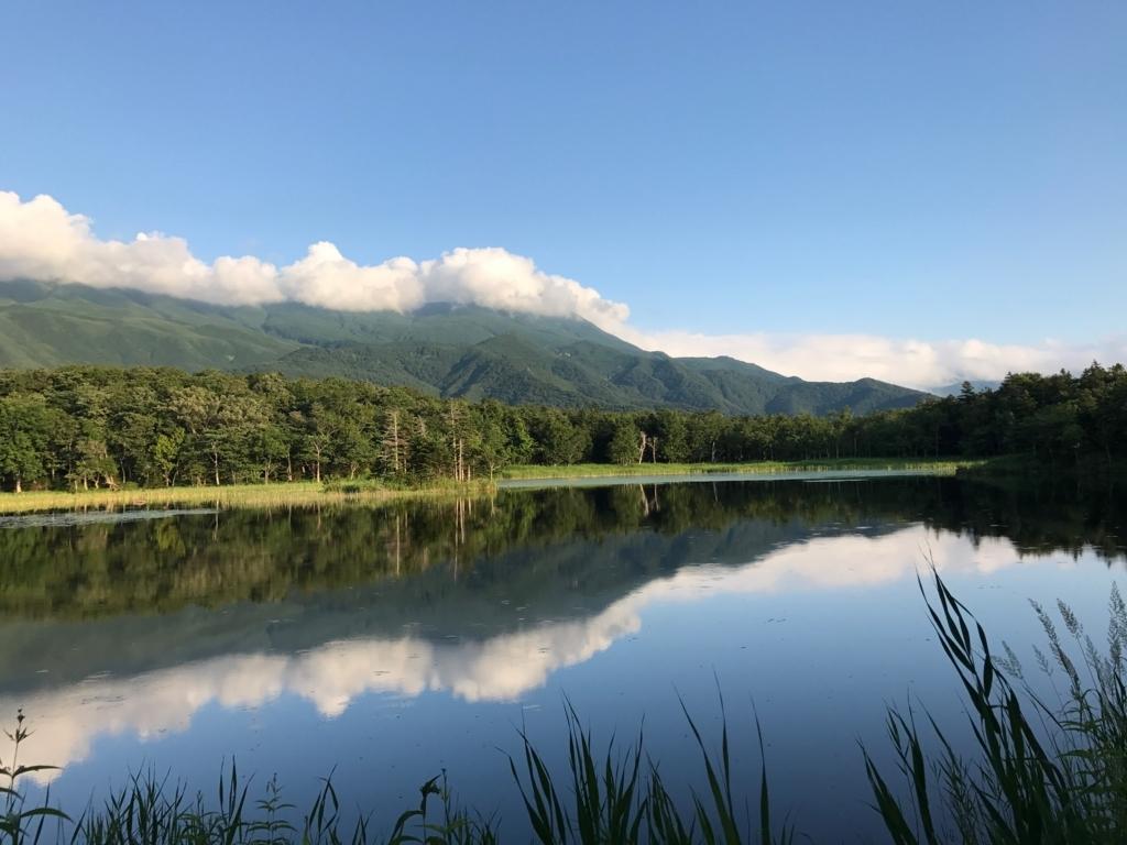北海道 知床 二湖 知床連峰側