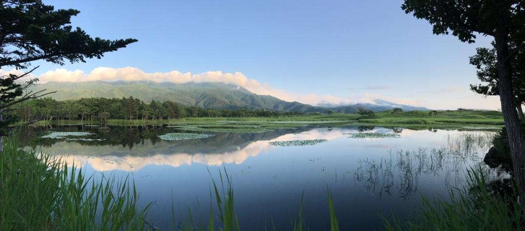 北海道 知床 一湖 知床連峰側 パノラマ