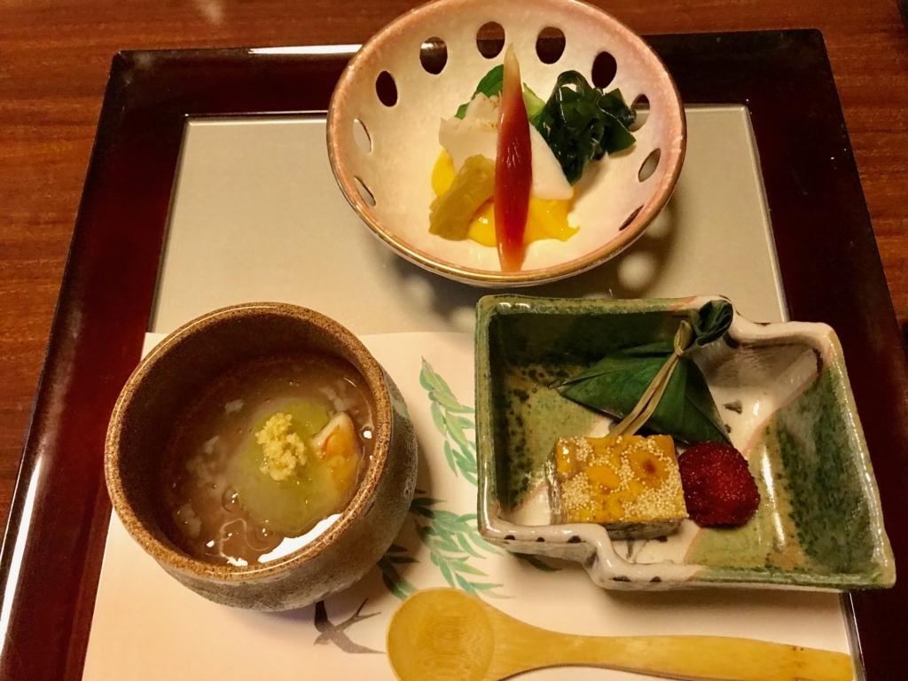 千葉県 安房勝山 「紀伊乃国屋 別亭」夕食 前菜