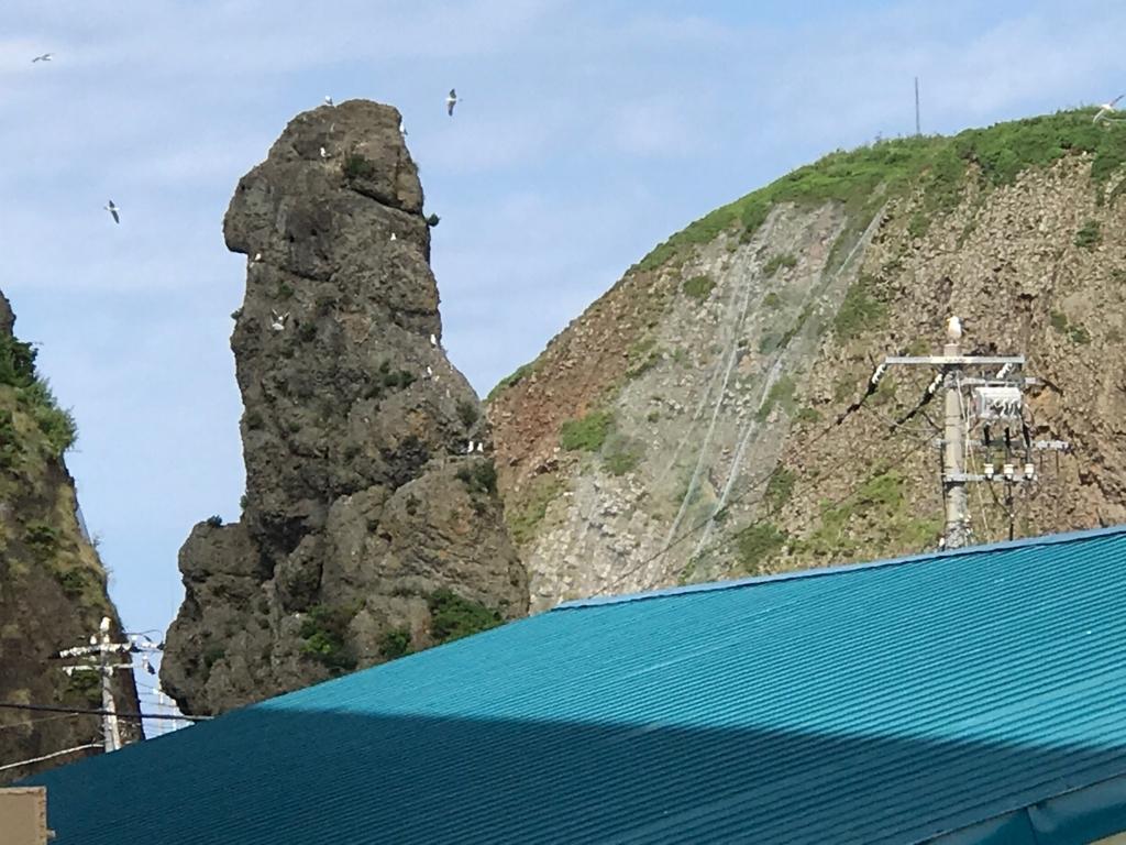北海道 知床 ゴジラ岩?