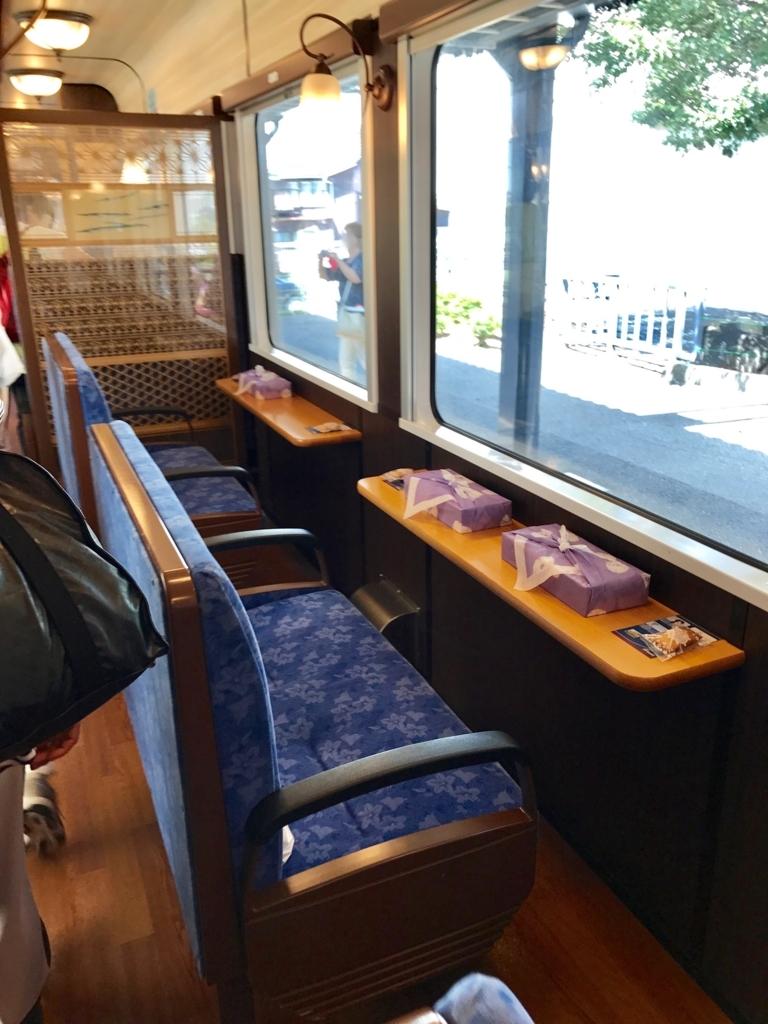 のと鉄道「のと里山里海3号」海側に面した横向き席