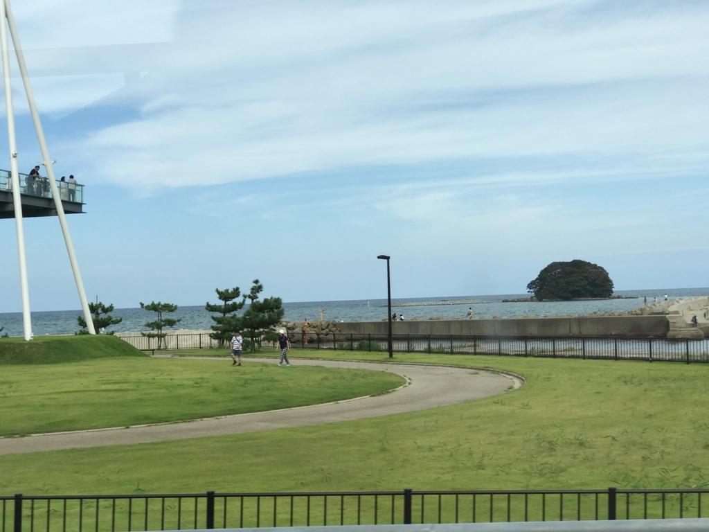 穴水駅から氷見駅へ 高速道路 車窓 氷見 富山湾