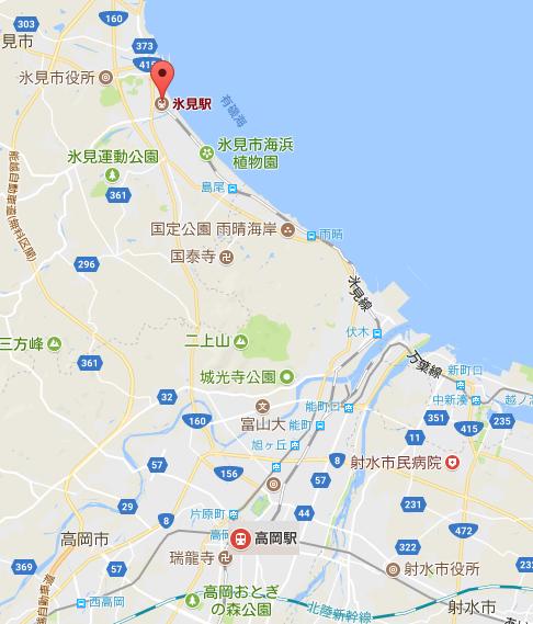 JR氷見線 観光列車 「べるもんた」運行区間