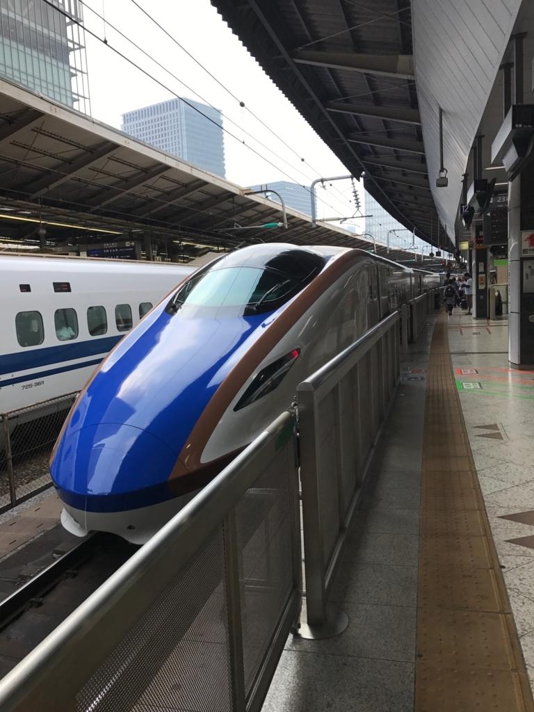 東京駅 新幹線はくたか 金沢へ出発