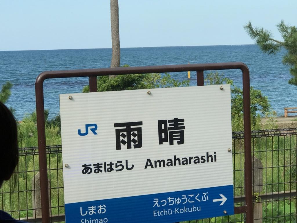 JR氷見線 観光列車「べるもんた4号」乗車中 雨晴駅