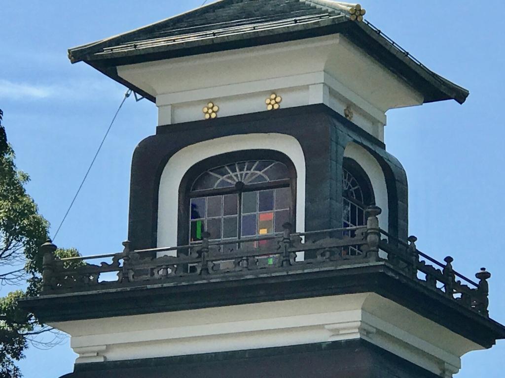 金沢「尾山神社」 神門 第三層 ステンドグラス