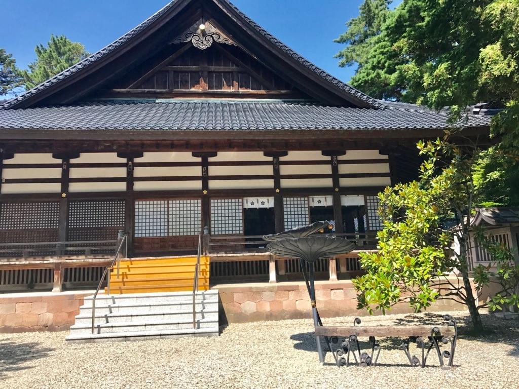 金沢「尾山神社」 本殿横 鉄のオブジェ