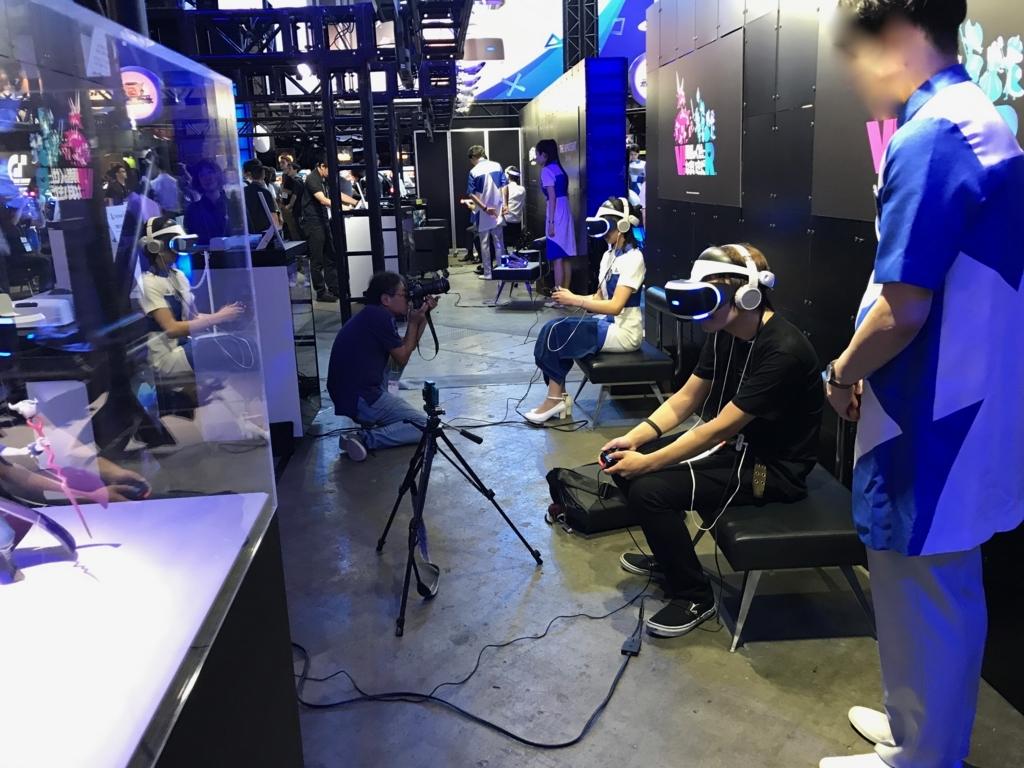 東京ゲームショウ2017 SONY BOOTH 「PlayStation VR」取材中