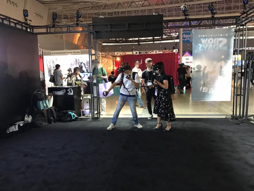 東京ゲームショウ2017 VR/ARコーナー REALIS社のVR 楽しい体験