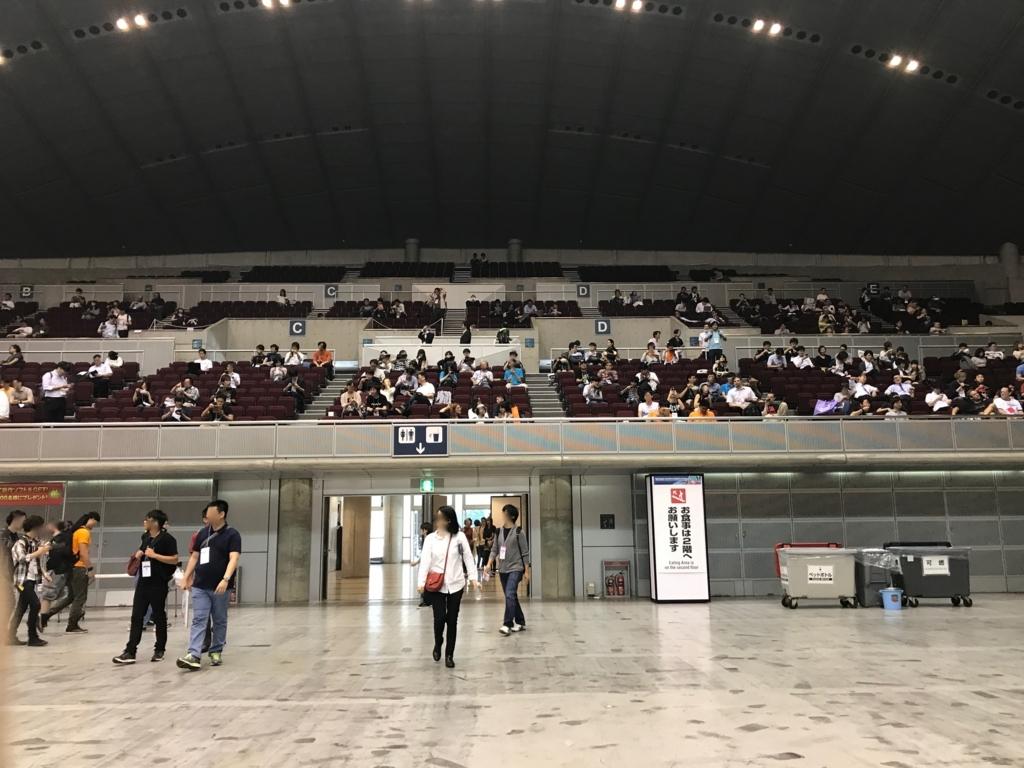 東京ゲームショウ2017 Event Hall フードコート 観客席が食事場所に