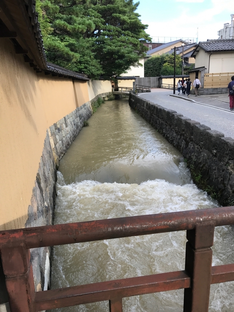 金沢 長町武家屋敷街跡 用水路