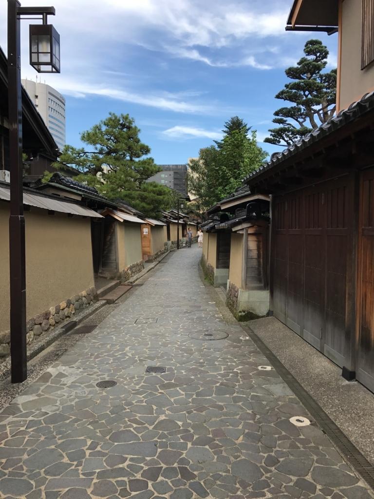 金沢 長町武家屋敷街跡 石畳の道