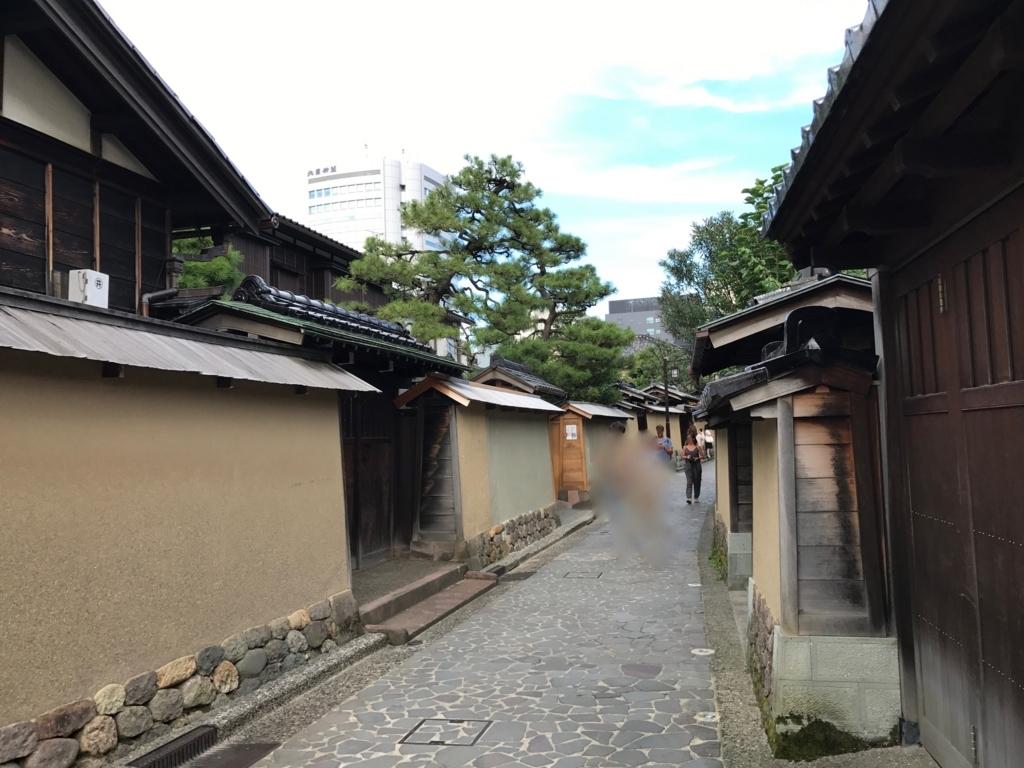 金沢 長町武家屋敷街跡 門の高さが違う屋敷
