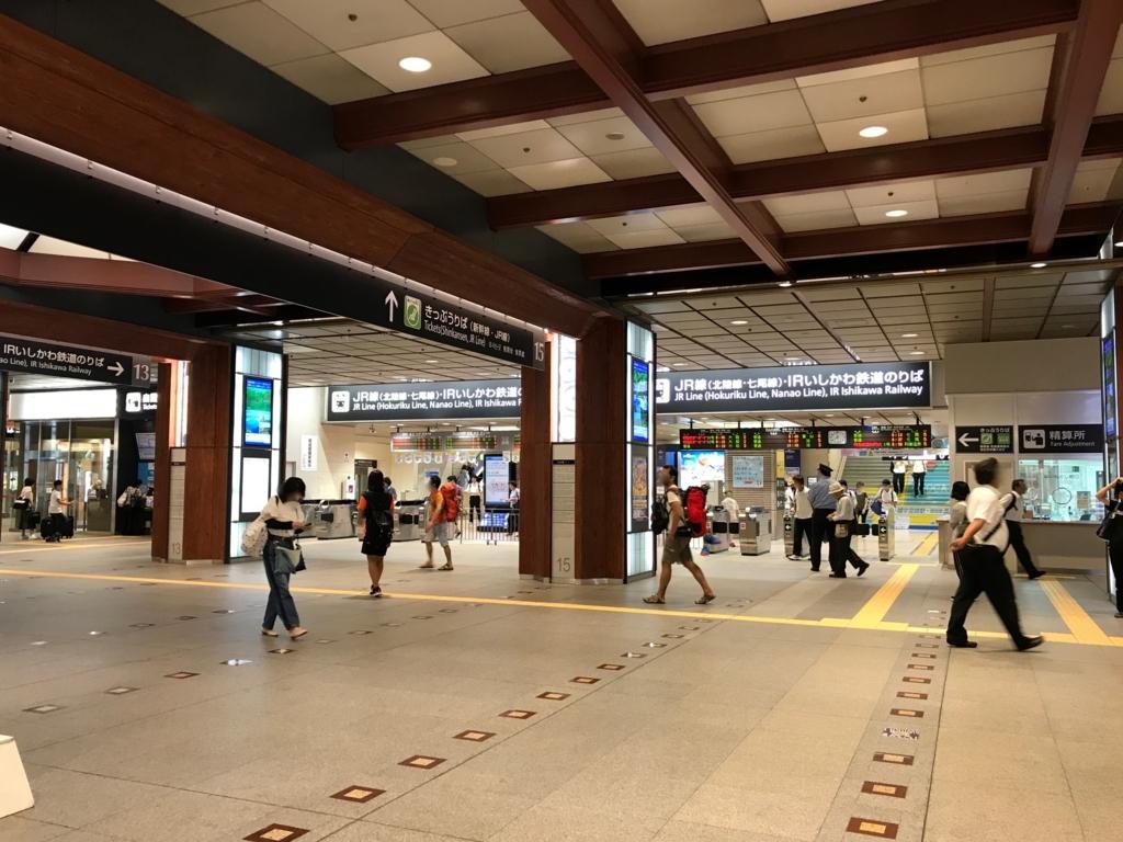 JR金沢駅 改札口