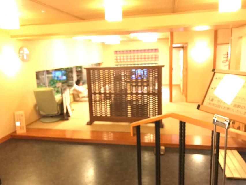 金沢マンテンホテル駅前 大浴場前の休憩所