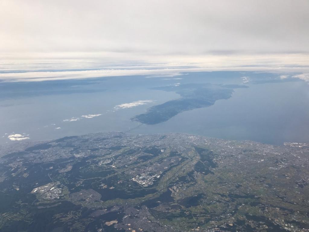 羽田ー岩国  ANA631便 空からの風景 淡路島