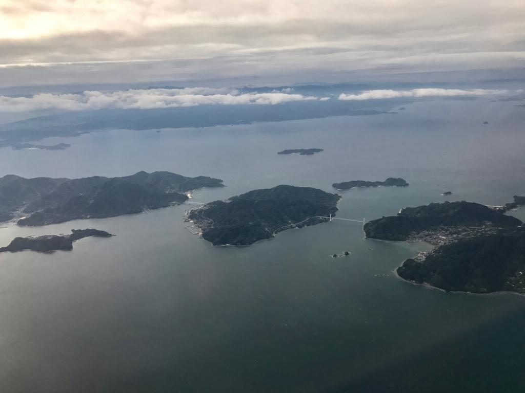 羽田ー岩国  ANA631便 空からの風景 大崎下島、豊島、上蒲刈島