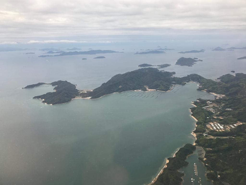 羽田ー岩国  ANA631便 空からの風景 呉周辺