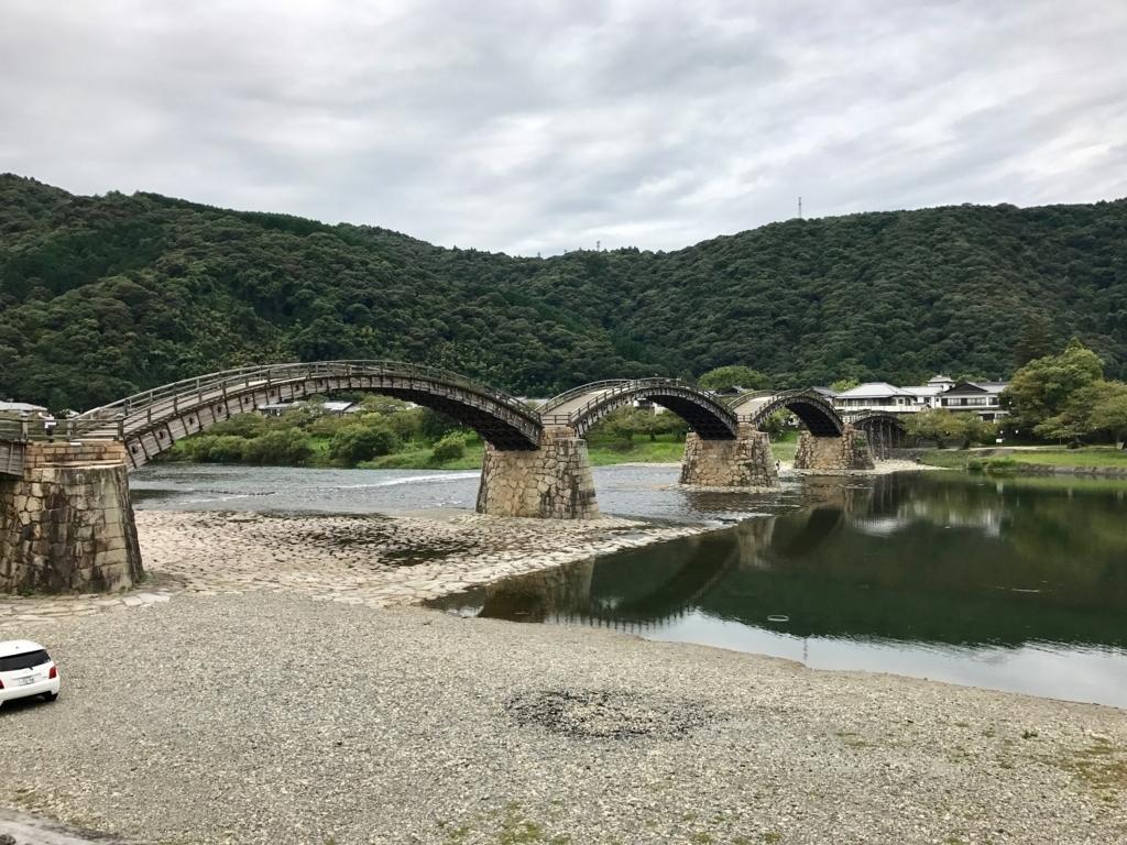 山口県 岩国「錦帯橋」町側より撮影